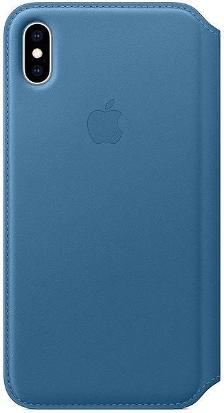 Apple iPhone XS Max Kožené pouzdro Folio modrošedé - Pouzdro na mobil