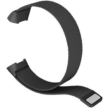 Eternico Fitbit Charge 3 / 4 Steel černý (Small) - Řemínek