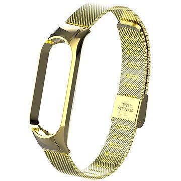 Eternico Mesh Stainless Steel zlatý pro Mi Band 5 / 6 - Řemínek