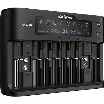 AlzaPower Battery Charger AP820B - Nabíječka baterií