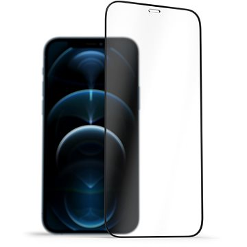 AlzaGuard 2.5D FullCover Glass Protector pro iPhone 12 / 12 Pro černý - Ochranné sklo