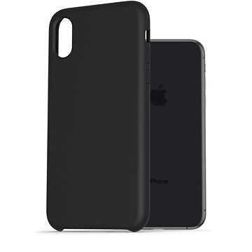 AlzaGuard Premium Liquid Silicone Case pro iPhone X / Xs černé - Kryt na mobil