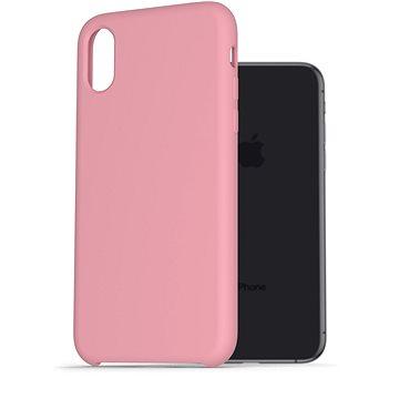 AlzaGuard Premium Liquid Silicone Case pro iPhone X / Xs růžové - Kryt na mobil