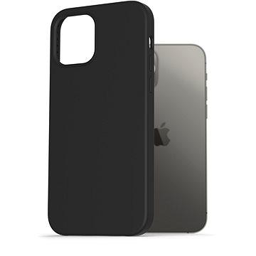AlzaGuard Premium Liquid Silicone Case pro iPhone 12 / 12 Pro černé - Kryt na mobil
