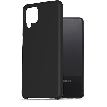 AlzaGuard Premium Liquid Silicone Case pro Samsung Galaxy A12 černé - Kryt na mobil