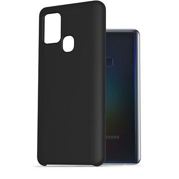 AlzaGuard Premium Liquid Silicone Case pro Samsung Galaxy A21s černé - Kryt na mobil
