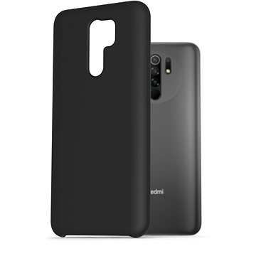 AlzaGuard Premium Liquid Silicone Case pro Xiaomi Redmi 9 černé - Kryt na mobil