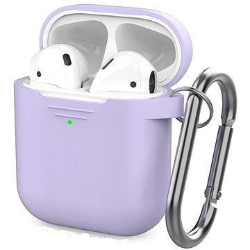 AhaStyle kryt AirPods 1 & 2 s LED indikací levandulový - Pouzdro na sluchátka