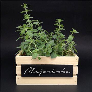 AMADEA Dřevěná bedýnka na bylinky z masivního dřeva s možností popisu, 24x14x11,5 cm - Úložný box