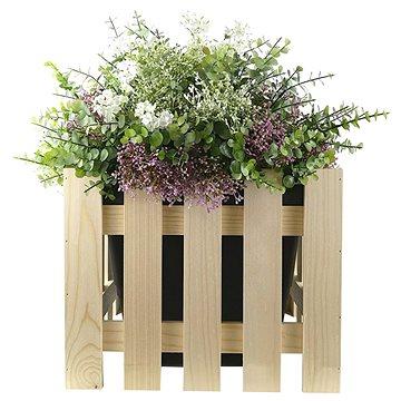 AMADEA Dřevěný obal na květináč, 37x37x30cm - Obal na květináč