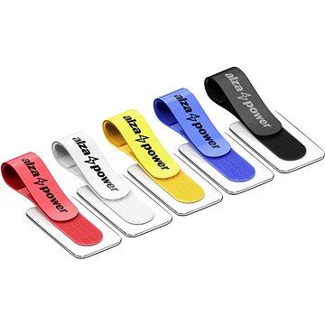 AlzaPower VelcroStrap+ with Tag 10pcs mix - Organizér kabelů