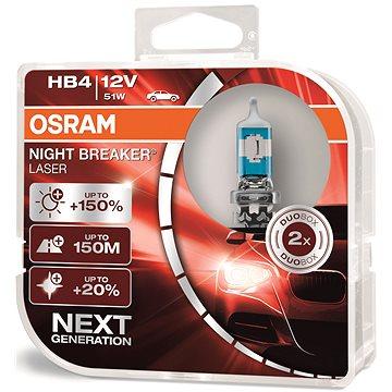 OSRAM HB4 Night Breaker Laser Next Generation +150%, 2ks - Autožárovka