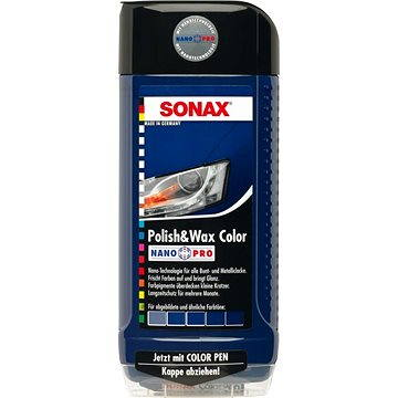 SONAX Polish & Wax COLOR modrá, 500ml - Vosk na auto