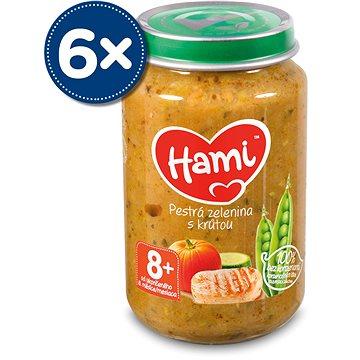 Hami Pestrá zelenina s krůtou 6× 200 g - Příkrm