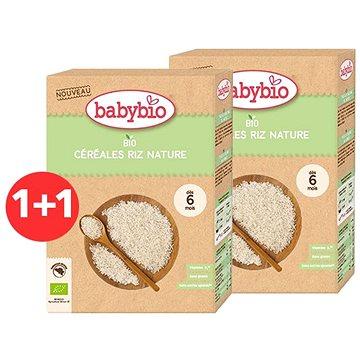 BABYBIO Dětská BIO kaše rýžová Natur 2× 200 g - Nemléčná kaše