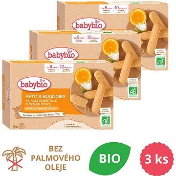BABYBIO Piškoty s esenciálním olejem ze sladkého pomeranče 3× 120 g - Sušenky pro děti
