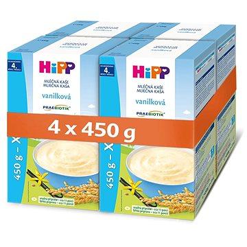 HiPP PRAEBIOTIK První kaše pro kojence vanilková 4× 450 g - Mléčná kaše
