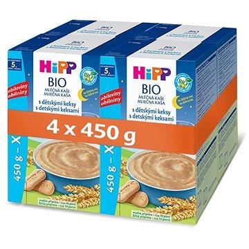 HiPP BIO Kaše na dobrou noc s dětskými keksy 4× 450 g - Mléčná kaše
