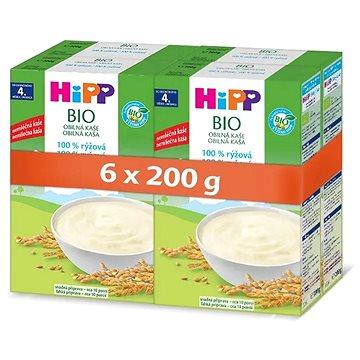 HiPP BIO Obilná kaše 100% rýžová 6× 200 g - Nemléčná kaše