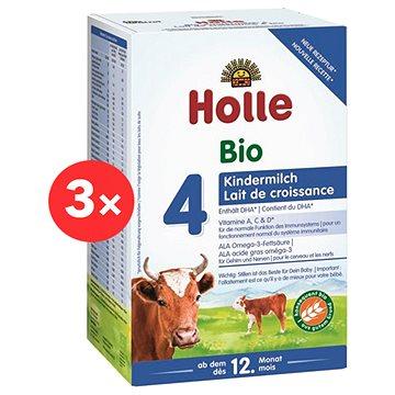 HOLLE BIO Dětská mléčná výživa 4 pokračovací 3× 600 g - Kojenecké mléko
