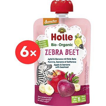 HOLLE Zebra Beet-BIO  jablko   banán a červená řepa 6× 100 g - Příkrm