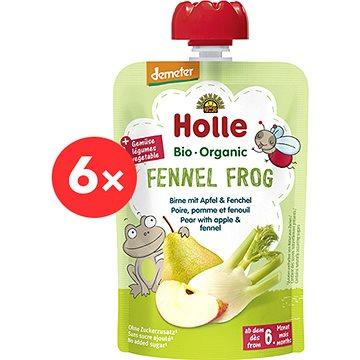 HOLLE Fennel Frog  BIO pyré hruška jablko fenykl 6× 100 g - Příkrm