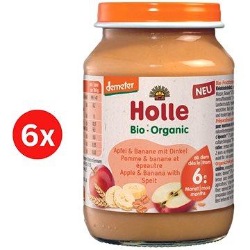 HOLLE BIO Jemné banány s krupicí 6× 190 g - Příkrm