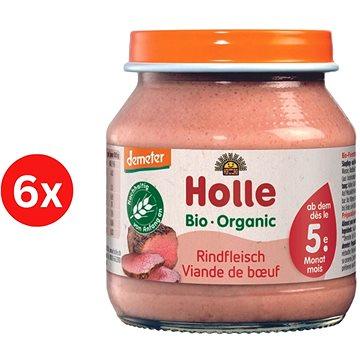 HOLLE BIO Hovězí maso 6× 125 g - Příkrm