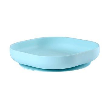 Beaba Talíř silikonový s přísavkou Blue - Talíř
