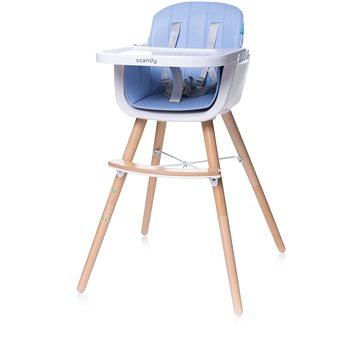 4BABY Scandy blue - Jídelní židlička