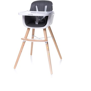 4BABY Scandy grey - Jídelní židlička