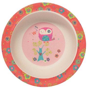 ZOPA Bambusová miska s přísavkou Owl - Dětská miska