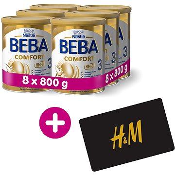 BEBA COMFORT 3 HM-O (8× 800 g) + H&M Poukaz v hodnotě 300 Kč - Kojenecké mléko