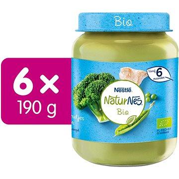 NESTLÉ NaturNes BIO Krutí maso s brokolici, pastiňákem a hráškem 6× 190 g - Příkrm