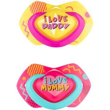 Canpol babies NEON LOVE 6–18m 2 ks růžový - Dudlík