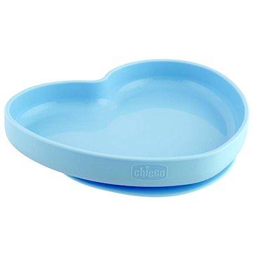Chicco silikonový talíř srdíčko modrozelená 9 m+ - Talíř