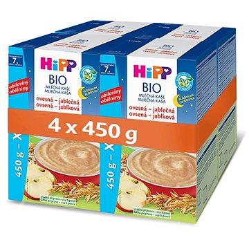 HiPP BIO Mléčná kaše na dobrou noc ovesná-jablečná - 4× 450 g - Mléčná kaše