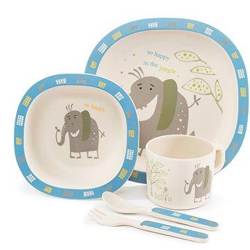 Zopa Bambusová sada nádobí - Elephant - Dětská jídelní sada