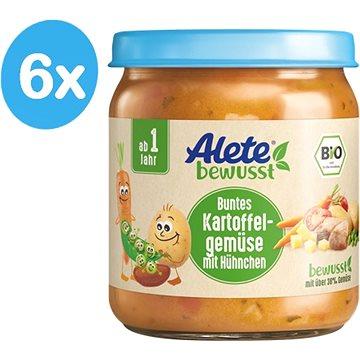 ALETE BIO Příkrm Zelenina s bramborem a kuřecím masem 6× 250 g - Příkrm