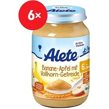 ALETE BIO Příkrm Banán s jablky a celozr. obil. 6× 190 g - Příkrm