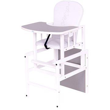 Drewex Borovicová židlička Antonín Hvězdičky - šedá - Jídelní židlička