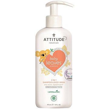 ATTITUDE Baby Leaves 2v1 s vůní hruškové šťávy 473 ml - Dětské mýdlo