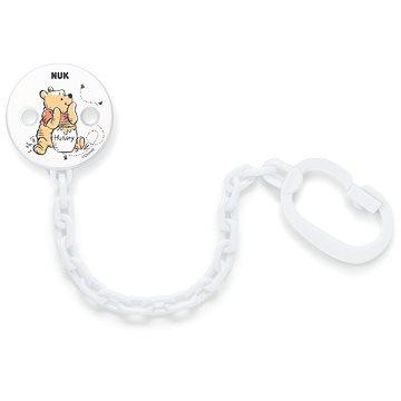 NUK Řetízek na dudlík medvídek PÚ - bílá - Klip na dudlík