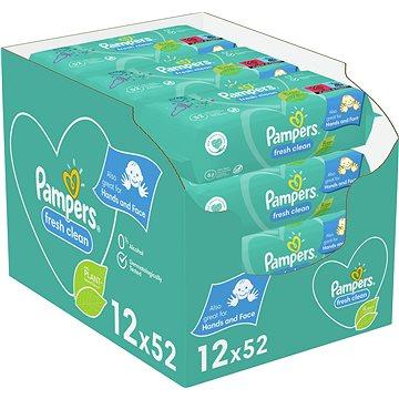 PAMPERS Fresh Clean 12× 52 ks - Dětské vlhčené ubrousky