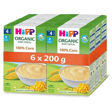 HiPP BIO První obilná kaše - 100% kukuřičná - 6× 200 g - Nemléčná kaše