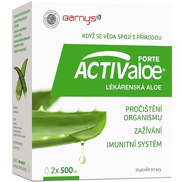Barny´s ACTIValoe® FORTE Lékárenská aloe 2x500 ml - Aloe vera