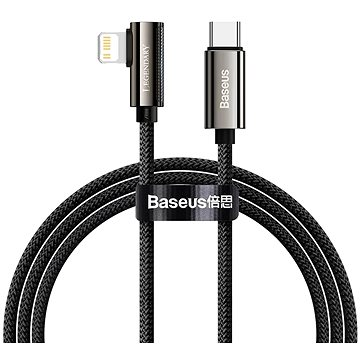 Baseus Elbow Fast Charging Data Cable Type-C to iP PD 20W 2m Black - Datový kabel