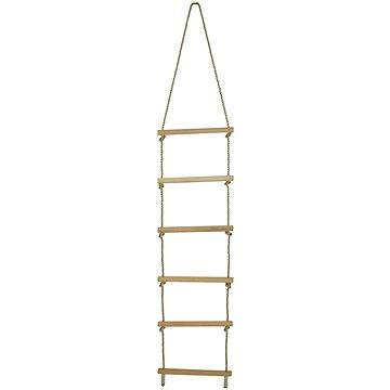 Dřevěný provazový žebřík - Nosnost 60kg. - Provazový žebřík