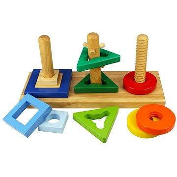 Dřevěná motorická hračka - Nasaď a otoč - Didaktická hračka