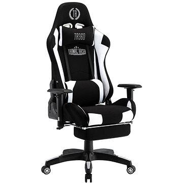BHM Germany Turbo LED, textil, černá / bílá - Herní židle